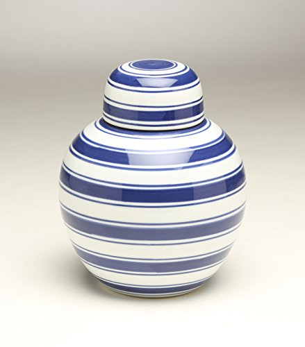 AA Importing 59955 Blue & White Ginger Jar