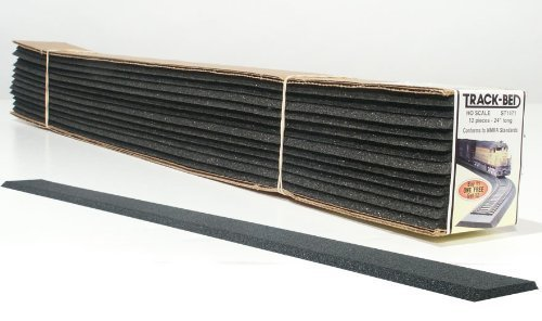 HO 2' TrackBed Strips (12) by Woodland Scenics
