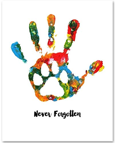 Never Forgotten - 11x14 Unframed Art Print - A Thoughtful Pet Memorial Under $15 For Someone That Has Lost A Furbaby ()