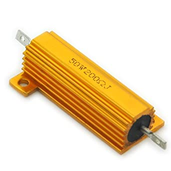 Electronics Salon 20pcs 200 Ohm 50w Wirewound Aluminum Housed Resistor Single Resistors