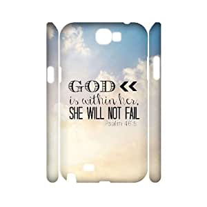 Bible Verse Personalized 3D Cover Case for Samsung Galaxy Note 2 N7100,customized phone case ygtg621059
