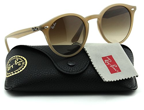Ray-Ban RB2180 Unisex Round Sunglasses (Light Brown Frame/Brown Gradient Lens 616613, - Lenses Ban Round Ray Sunglasses