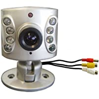 Wisecomm OC960 Mini Indoor Night Vision Color Security Camera with Audio and Adjustable Lens - Mini (Silver)