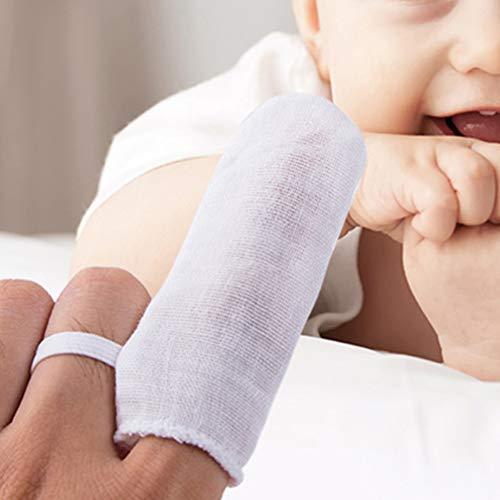 41Umyij7dkL - HEALLILY 12pcs Baby's Finger Toothbrush Soft Gauze Dental Brush Infant Oral Hygiene Brush