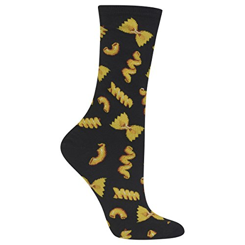 UPC 191751017468, Hot Sox Womens Dress Crew Sock, Pasta Black - Size: 9-11