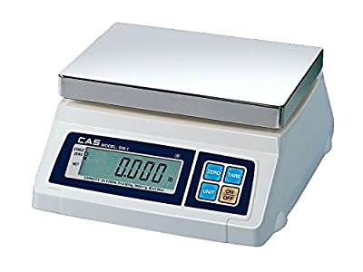 CAS CSSW1D1210--20LB Stainless Steel SW Series Portion Control Dual Display, 20 lb.