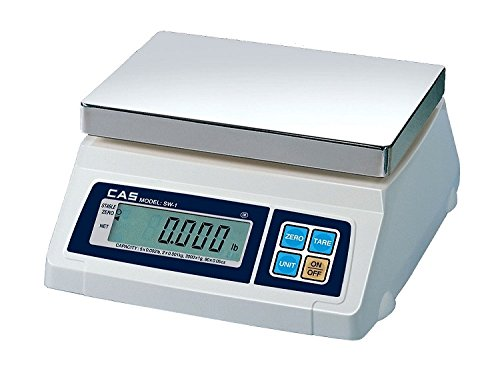 Image of CAS CSSW1D1210-20LB Stainless Steel SW Series Portion Control Dual Display, 20 lb. Anemometers