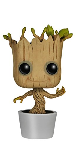 Funko POP! Marvel: Dancing Groot Bobble Action Figure (Bobble Head Santa)