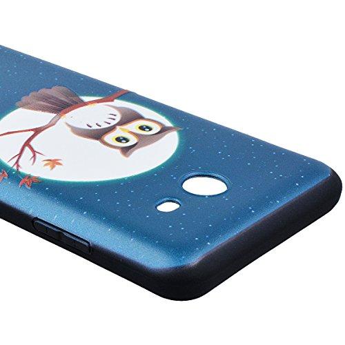 WE LOVE CASE Funda Samsung J5 2017, Patrón Gel Ultra Fina Suave Delgado Funda Samsung Galaxy J5 2017 Silicona Cubierta, Flexibilidad Blanda Anti Rasguños Choque con Diseño Creativo Resistente Funda Sa Búho Azul