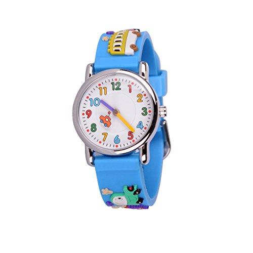 Wolfteeth Analog Quarz Little Boys Watch Cartoon Car Blue White Dial Waterproof Cool Designer Boys Wrist Watch #303604