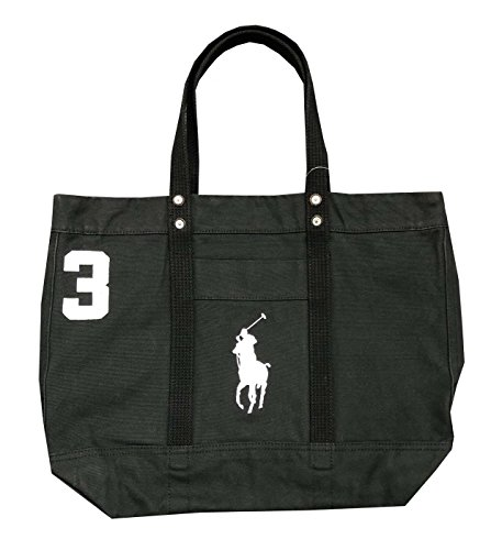 Polo Ralph Lauren Cotton Canvas Big Pony Zip Tote Bag (One size, - Lauren Polo Luggage Ralph