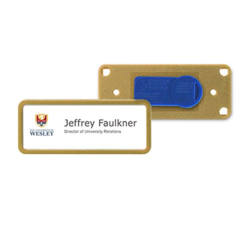 SB-12-BM-GD Reusable Window Name Badge Tag (BULK PURCHASE 12PCS