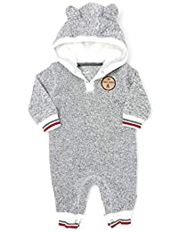 Mini Heroes - Baby's Romper with Sherpa Lined Hood
