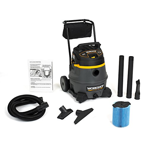 WORKSHOP Wet Dry Vac WS1400CA High Power Wet Dry Vacuum Cleaner, 14-Gallon Shop Vacuum Cleaner, 6.0 Peak HP Wet And Dry Vacuum
