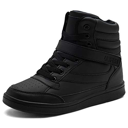 UBFEN Hidden Wedges 5.5cm Women Backpacking Boots High Top Shoes Fashion Sneakers Casual 7.5 M US Black