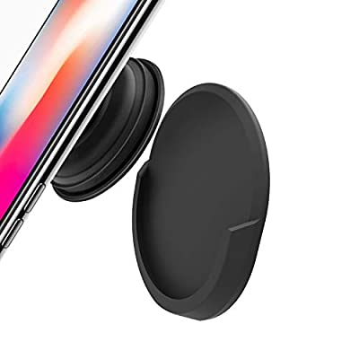 PopDock Pop Socket Car Mount - for Phone PopSockets Stand and Grips | Strongest & Most Durable PopSocket Holder | for Use in Car, Home, Office (Black)