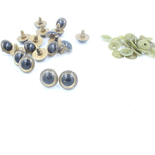Big Giant 24mm Plastic Safety Eyes for Teddy Bear Doll Animal Puppet Craft (24mm, Gold)