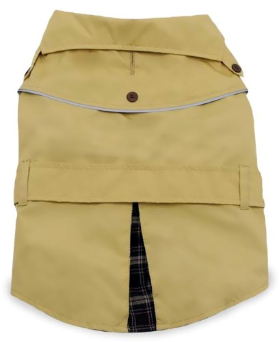 Dogit Trench Dog Coat, X-Large, Beige, My Pet Supplies