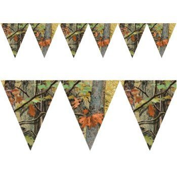 Creative Converting 1 Piece Hunting Havercamp Camo Hanging Flag Banners - 10 Feet Long Southern Birthday Celebration Party Decorations Supplies -