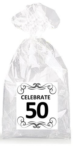 Image Unavailable Not Available For Colour Elegant Celebrate 50th Birthday Party Favor Bags