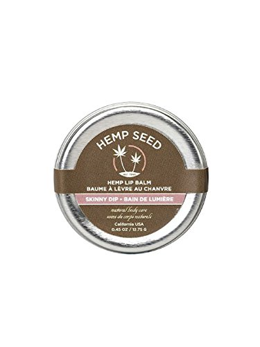 Earthly Body Hemp Seed Lip Balm 0.45 OZ TIN - 3 Pack - Skinny Dip