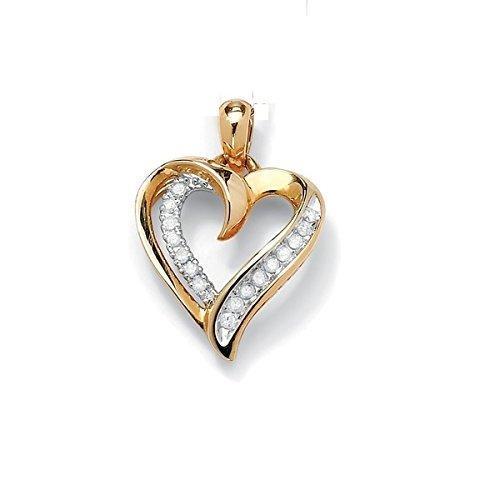 Natural Diamond 14K Gold Hallmark Women Gift Heart Pendant Jewelry, Customize Rose/Yellow/White Gold