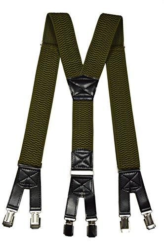 De Haute 4cm Extra Avec Olata Fort Bretelles Clips Vert Olive 6 Qualité 5TnxBw0