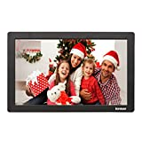 Kenuo 15 inch Digital Photo Frame Advertising Media Player 16:9 Digital Picture Frame with High Resolution LED Screen & Remote Control and Auto On/Off Timer (Black)