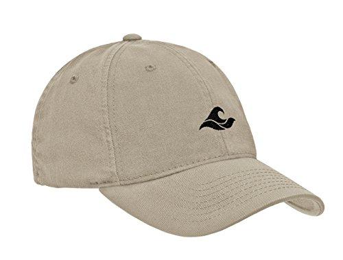 Koloa Surf Wave Logo Soft & Cozy Adjustable Baseball Cap-Khaki/b