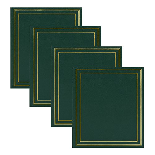 DesignOvation Traditional Photo Albums, Holds 440 4x6 Photos, Set of 4, Dark Green - Set Traditional Bookcase