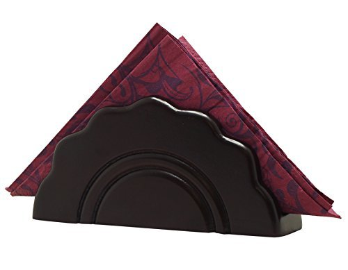 Thanksgiving Deals - SouvNear Wooden Black Napkin Holder Decorative Centerpiece Office/Home/Bar and Restaurant – Handmade Envelope/Letter/Document Holder - Multipurpose Table Essentials