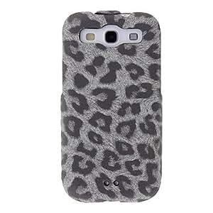 GDW Estampado leopardo de la PU cubierta de cuero del caso del tirón vertical para Samsung Galaxy S3 I9300 , Rose