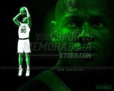 Ray Allen Boston Celtics green 8x10 11x14 16x20 photo 251 - Size 8x10