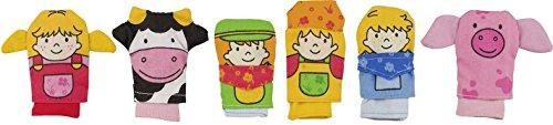 Goki - 51655 - Assortiment de Marionnettes à Doigt - Ferme - 6 Eléments