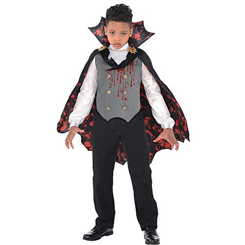 Suit Yourself Light-Up Bloody Vampire Costume for Boys, Size Large, Includes a Shirt with a Vest, a Cape, and a Jabot -