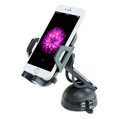 Car Mount Windshield Dash Holder Cradle Stand Rotating Black Compatible with Huawei Ascend P7 - Huawei Ascend XT - Huawei Fusion 3 - Huawei Google Nexus 6P - Huawei Honor 6X (Huawei Ascend P7 Smartphone)