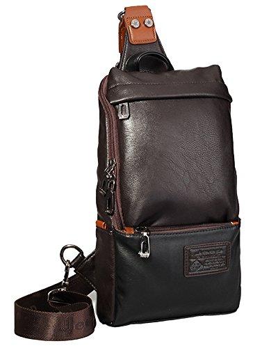Sling Tracolla Bag Borsello Messenger A Bag Borsa Uomo Marrone X51qwcfcnA