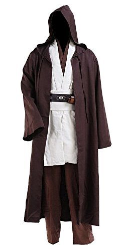 Cosdaddy® Mens Cosplay Costume Tunic Robe Full Set (S-men) (Jedi Costume)