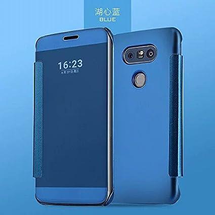 size 40 e0829 25193 Amazon.com: LG G5 Flip Cover, Mirror Clear View Slim Flip Case Cover ...