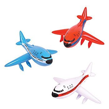 RINCO 3 Jumbo 33 Inflatable AIRPLANES/Jet/747/INFLATES/Birthday Party Decorations Favors/Decor/RED, White, Blue/New in Package Plane/Toys
