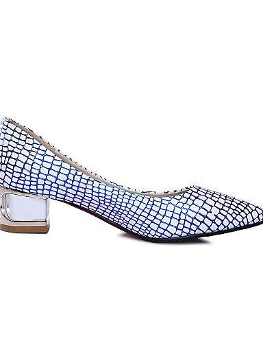 GGX/Damen Schuhe PU Sommer/Herbst Heels/spitz Toe Heels Büro & Karriere/Casual Low Ferse andere blau/silber/gold golden-us10.5 / eu42 / uk8.5 / cn43