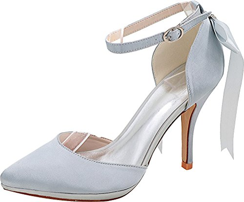 Silver Argenté Find Femme Cheville EU Nice 5 36 Bride TxzwzXZ