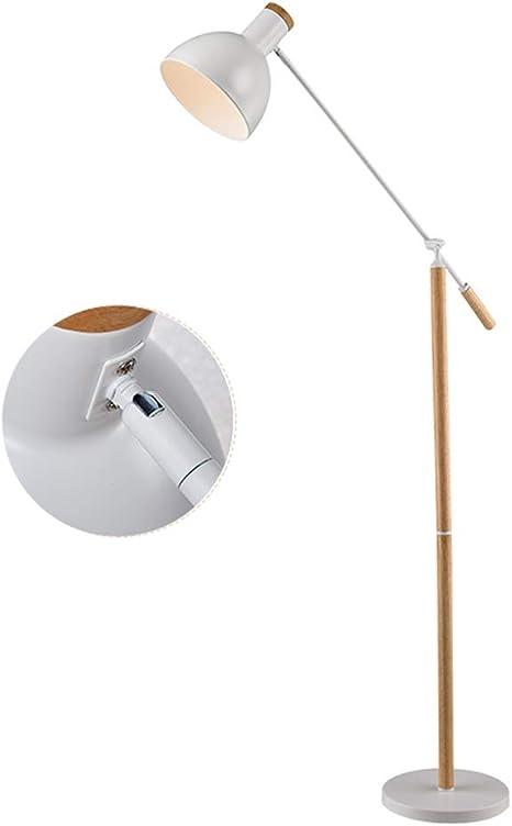 NLLDD Lámpara de pie Blanca con Brazo de Equilibrio Ajustable ...