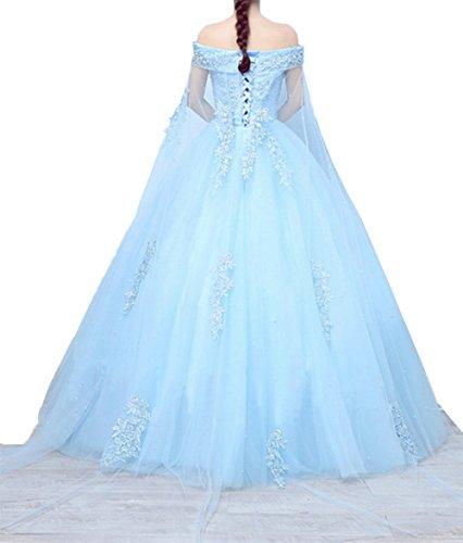 Abschlussballkleider Abendkleider A Charmant Spitze Prinzess Partykleider Ballkleider Linie Grau Rock Rock Langes Damen RYqw41