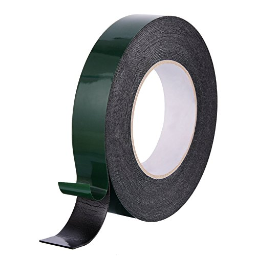 Price comparison product image 10 Meter Long Foam Tape Double Sided Sponge Tape Waterproof Mounting Adhesive Tape Roll Automotive Grade Number Plates Cars Trims,  Black