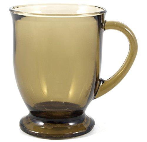 6 Footed Mugs (Anchor Hocking Café Mug, Mocha, Set of 6)