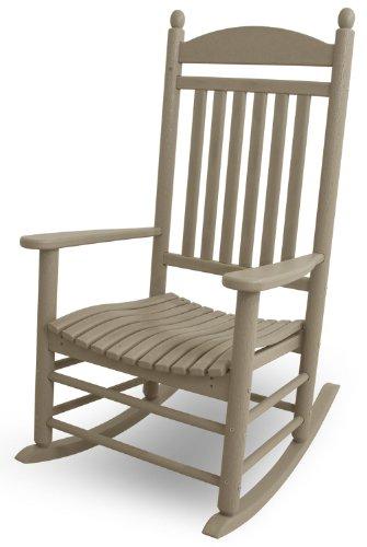POLYWOOD J147SA Jefferson Rocker, Sand (Garden Coated Plastic Painting Furniture)