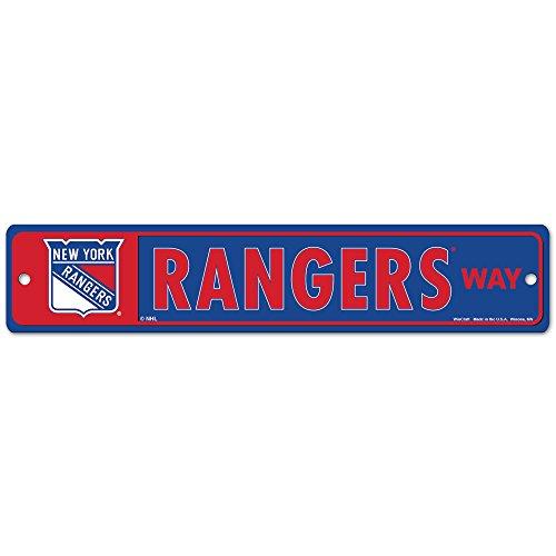 NHL New York Rangers 27875010 Street/Zone Sign, 4.5