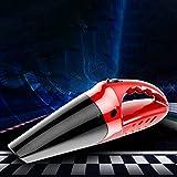 Car Vacuum Cleaner High Power Cordless, Portable Mini Smart Handheld Wireless Charging 4-in-1 Car Vacuum Cleaner (Red)
