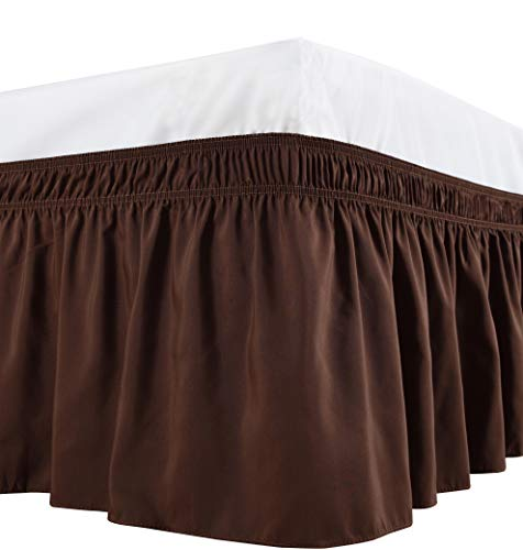 chocolate bed skirts queen size - 4